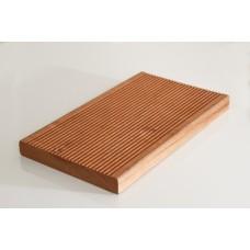 Декинг от термично обработена  дървесина Махагон Сапели