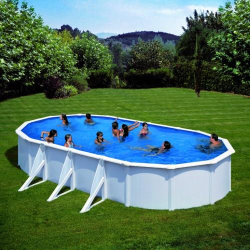 Сглобяем овален басейн с метална стена, размер: 730см x 375см, H=120см