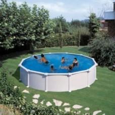 Сглобяем кръгъл басейн с метална стена, размер: ø450, H=90см