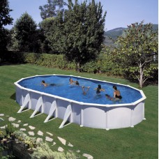 Сглобяем овален басейн с метална стена, размер: 1000см x 550см, H=132см