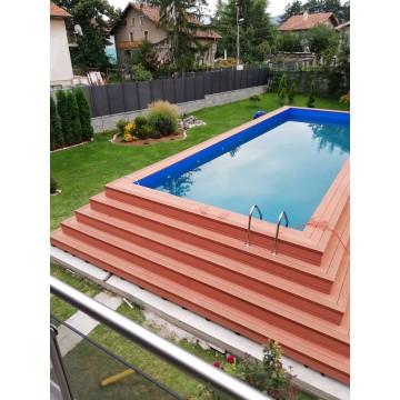 Луксозни сглобяеми дървени басейни