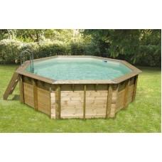 """Сглобяем осмоъгълен басейн с дървена конструкция, размер: ø410см, H=1.2см, модел """"Azura"""", Ubbink"""