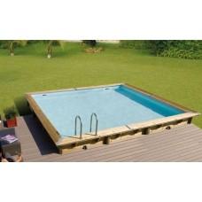 """Сглобяем квадратен басейн с дървена конструкция, размер: 500см х 500см, H=1.4см, модел """"Linea"""", Ubbink"""