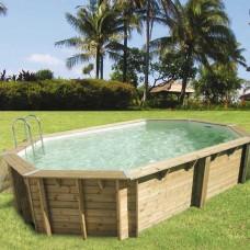 "Сглобяем осмоъгълен басейн с дървена конструкция, размер: 400см х 610см, H=1.3см, модел ""Ocea"", Ubbink"